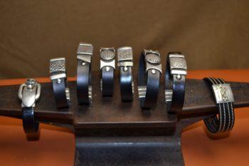 cuir et apprêts métal