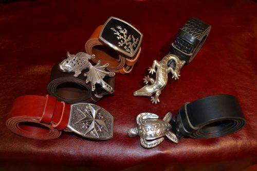 ceintures artisanales en cuir